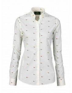 Laksen High & Wide Hen Lady Shirt Creme