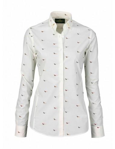 Laksen High & Wide Hen Lady Shirt Creme