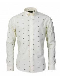 Laksen Heren Overhemden met Fazant motieven cream