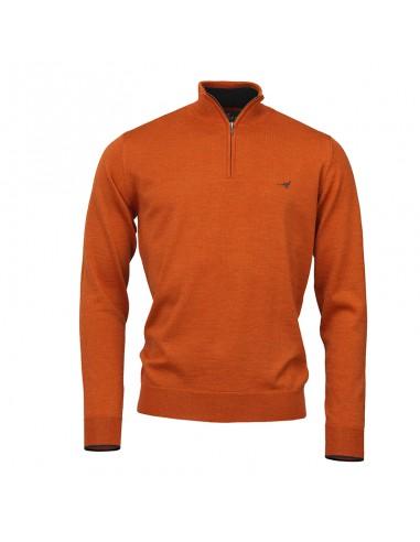 Laksen Norfolk 1/4 Zip Mens Sweater